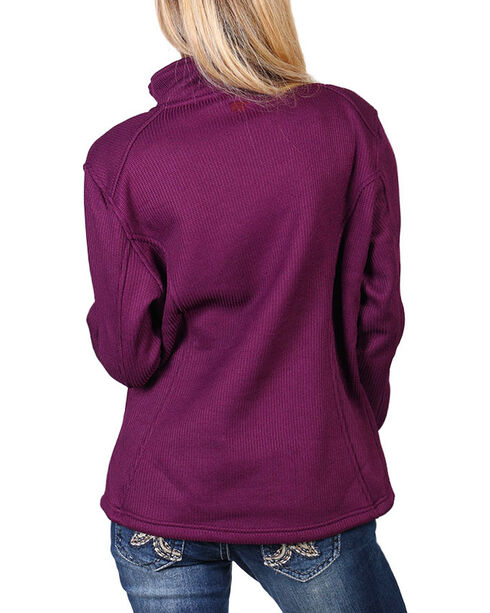 Polar King Women's Knit Jacket , Grape, hi-res