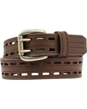 HDX Double Hole Belt, Brown, hi-res