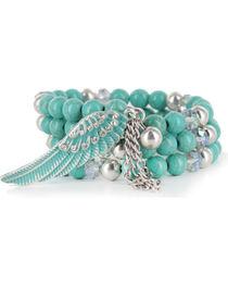 Shyanne® Women's Angel Wing Coil Bracelet, , hi-res