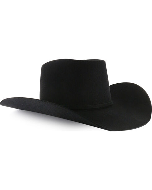 Rodeo King Men's Brick 5X Felt Cowboy Hat, Black, hi-res