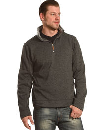 China Leather Men's Heather Knit Quarter Zip Pullover, , hi-res