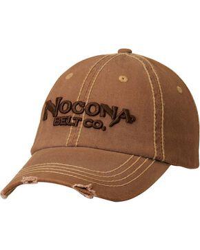 Nocona Distressed Wash Logo Cap, Brown, hi-res