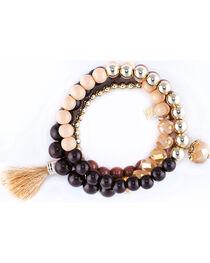 Sincerely Mary Women's Zurich 4 Piece Beaded Bracelet Set, , hi-res