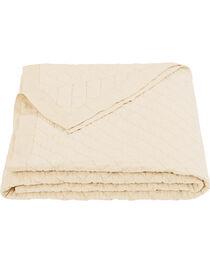 HiEnd Accents Diamond Pattern Cream Linen Full/Queen Quilt, , hi-res
