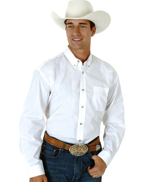 Roper Amarillo Collection Men's Shirt, White, hi-res