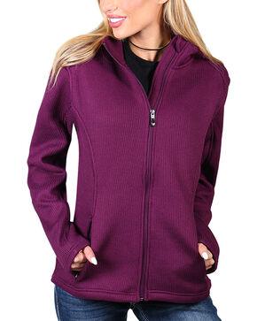 Polar King Women's Knit Jacket , Grape, hi-res
