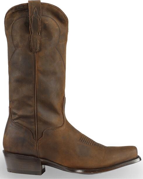 El Dorado Men's Tan Oiled Roper Boots - Square Toe, Tan, hi-res
