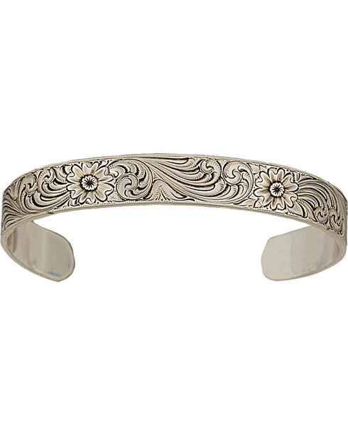 Montana Silversmiths Classic Engraved Narrow Cuff Bracelet, Silver, hi-res