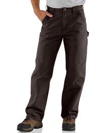 Carhartt Dark Brown Washed Duck Dungaree Work Pants, , hi-res