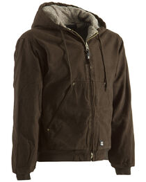 Berne Washed Hooded Work Coat - XLT and 2XT, , hi-res