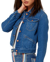 Wrangler Women's 70th Anniversary Cropped Denim Jacket, , hi-res