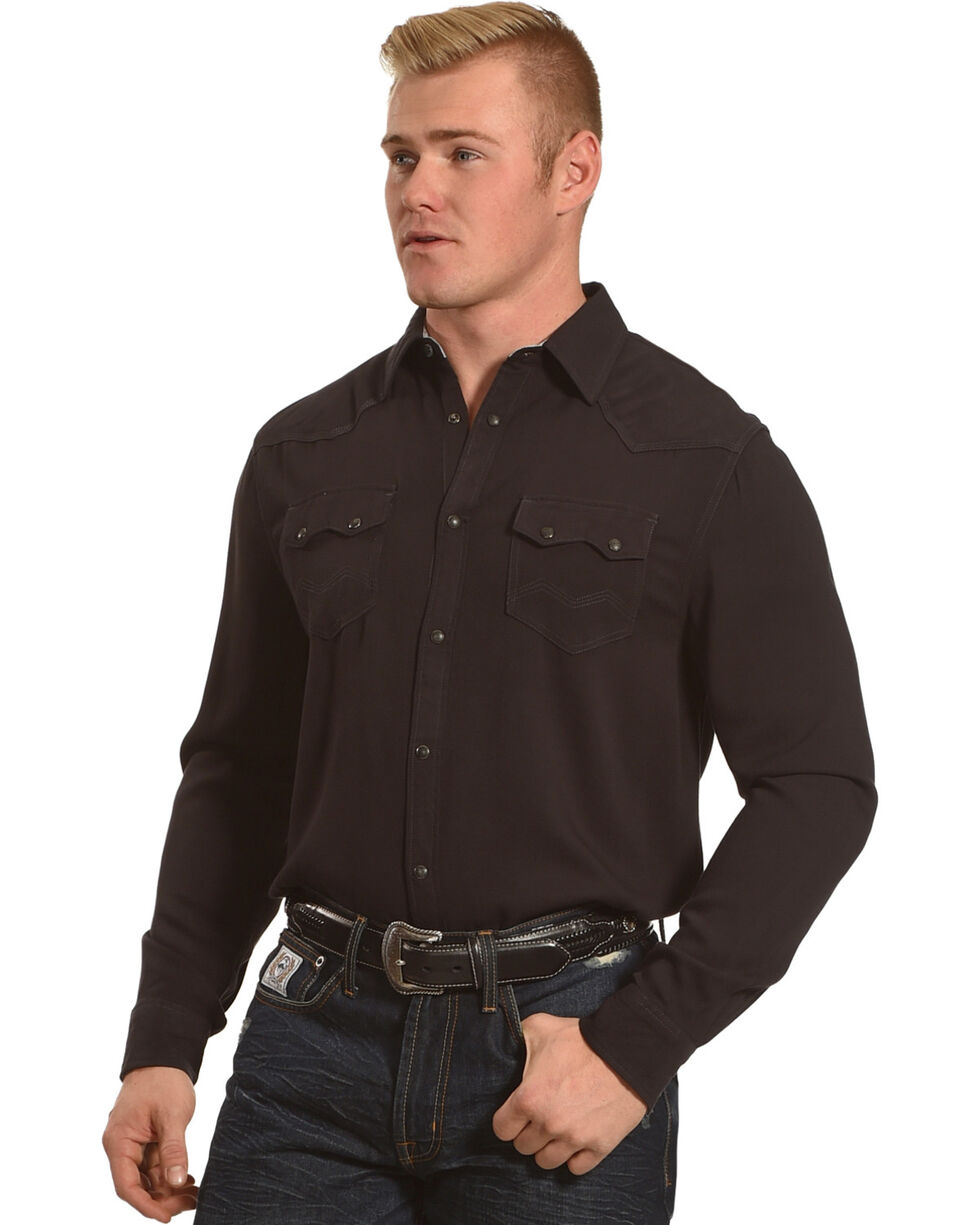 Moonshine Spirit Men's Bandwidth Long Sleeve Shirt , Black, hi-res