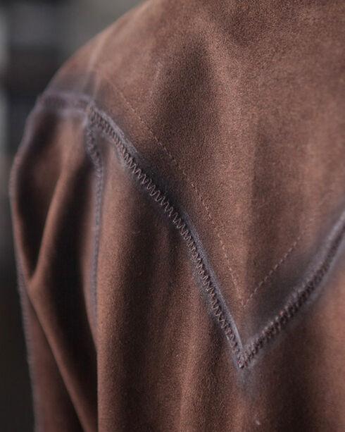 Ryan Michael Women's Brown The Elmira Leather Shirt , Brown, hi-res