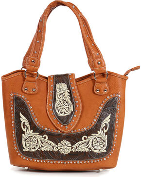 Savana Women's Embroidered Western Shoulder Bag, Multi, hi-res