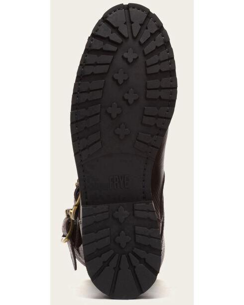 Frye Women's Dark Brown Natalie Mid Engineer Lug Shearling Boots, Dark Brown, hi-res