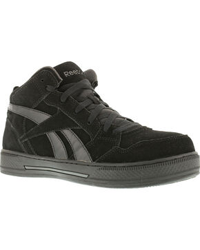 Reebok Men's Dayod Skate Work Shoes - Composite Toe, Black, hi-res