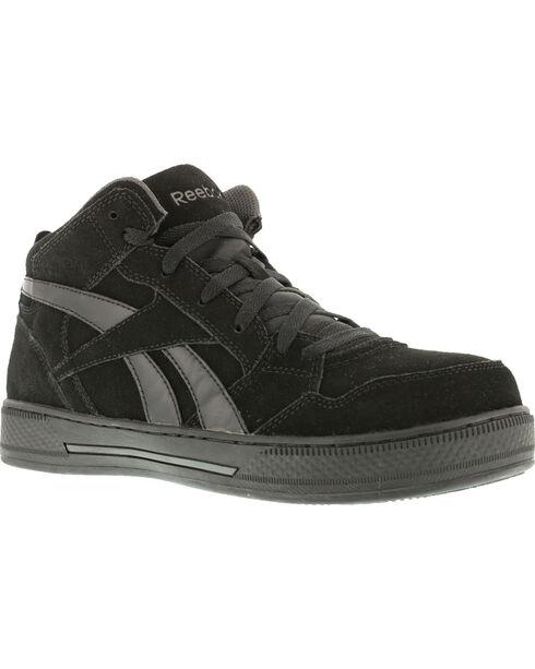 Reebok Men's Dayod Skate Work Shoes - Composition Toe, Black, hi-res