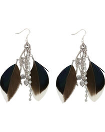 Shyanne® Women's Feather Hook Earrings, , hi-res