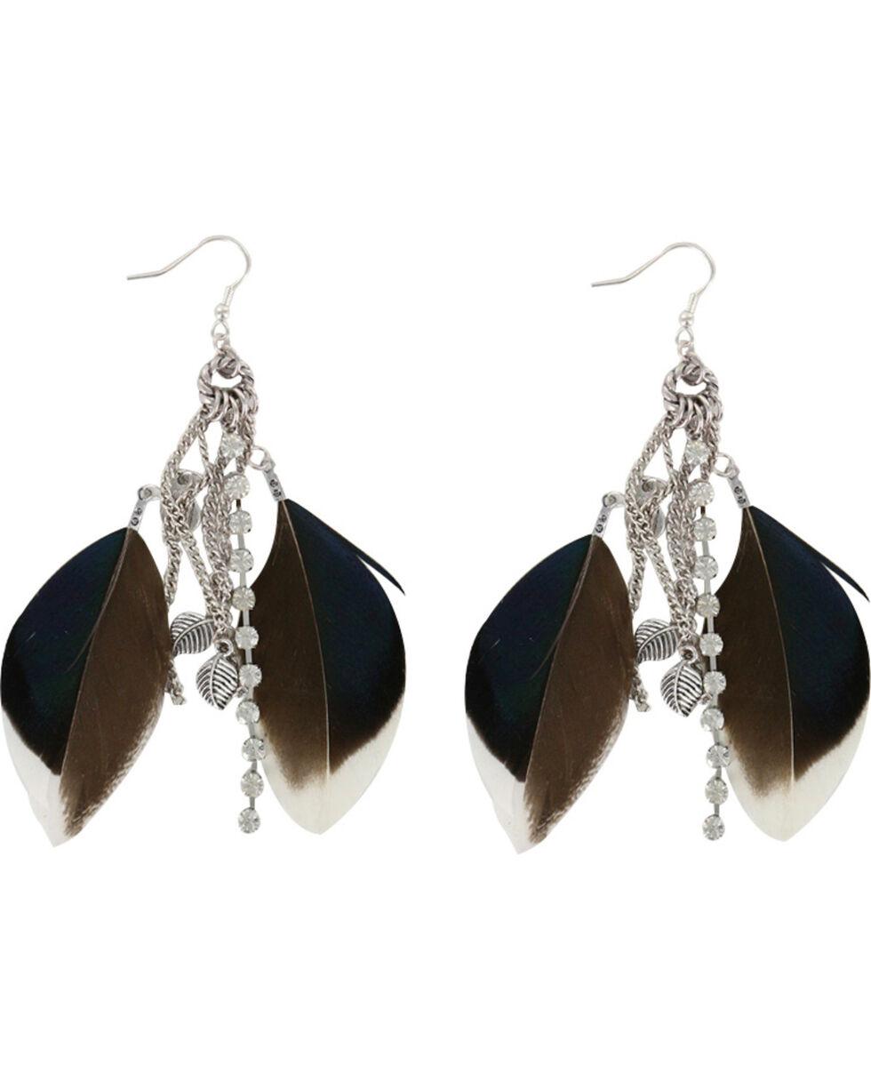 Shyanne® Women's Feather Hook Earrings, Brown, hi-res