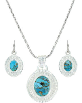 Montana Silversmiths Women's Glacier Pools Jewelry Set, Silver, hi-res