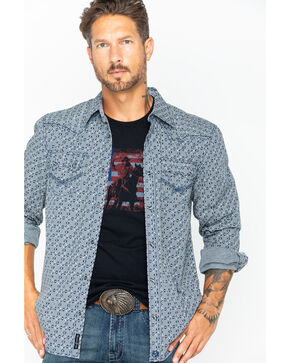 Moonshine Spirit Men's Hidden Printed Long Sleeve Shirt, Black, hi-res