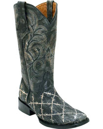 Ferrini Women's Barbed Wire Western Boots - Square Toe, , hi-res