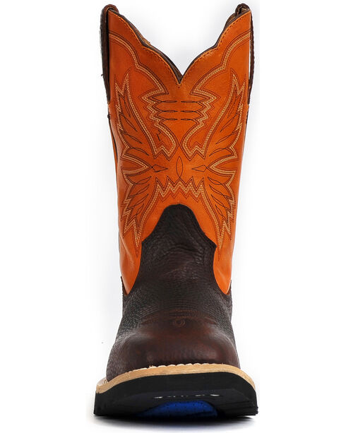 "Cinch Men's 11"" Square Toe Work Boots, Brown, hi-res"