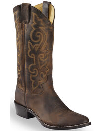 "Justin Men's 13"" Leather Western Boots, , hi-res"