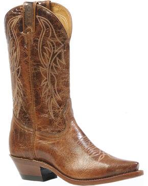 """Boulet Men's 13"""" Medium Cowboy Toe Western Boots, Brown, hi-res"""