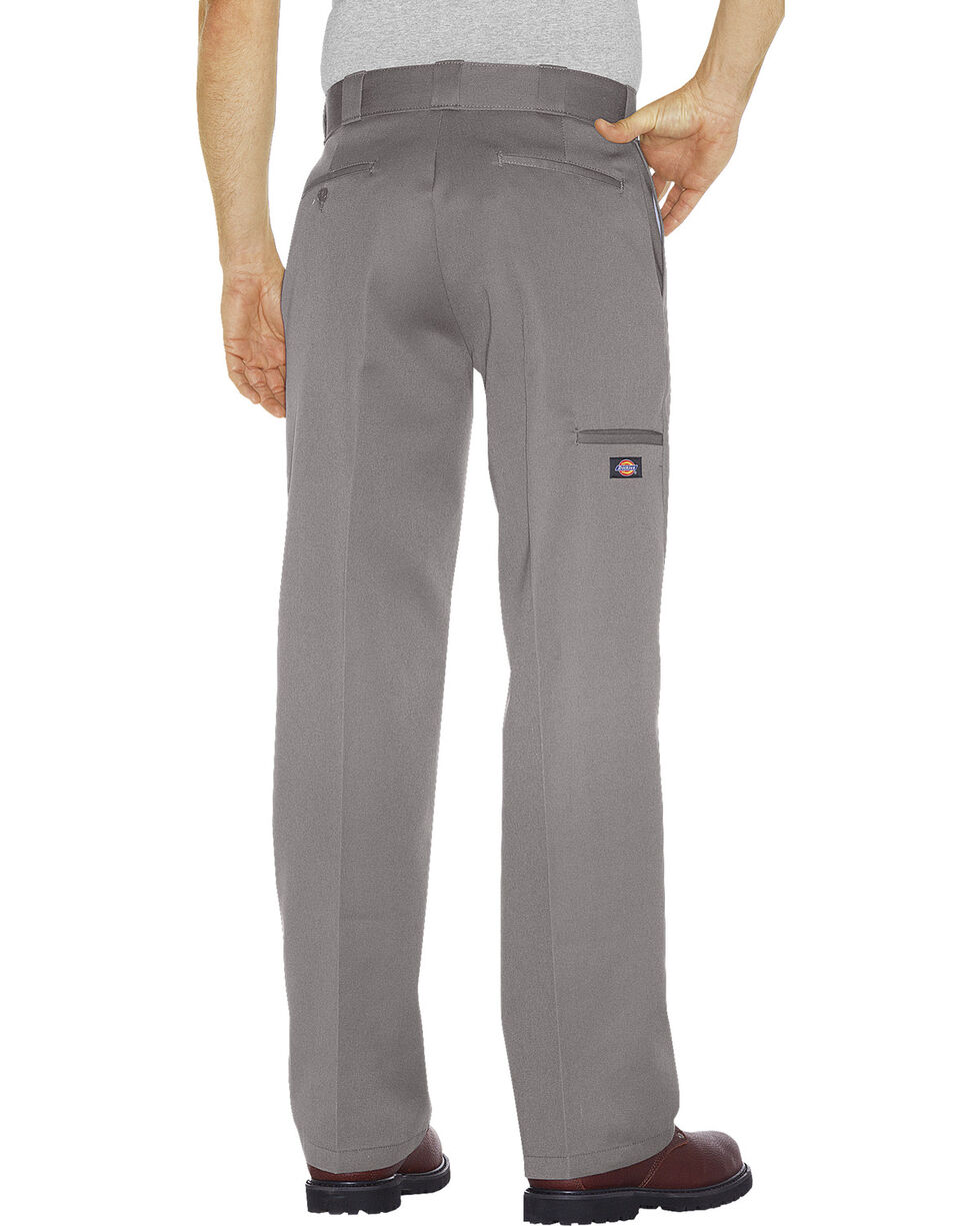 Dickies Men's Loose Fit Double Knee Work Pants, Silver, hi-res