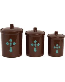 HiEnd Accents 3-Piece Cross Canister Set, , hi-res