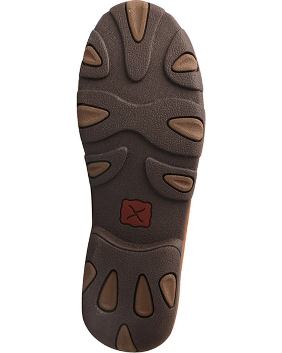 Twisted X Women's Ostrich Driving Moc Toe Shoes, Brown, hi-res