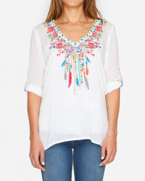 Johnny Was Women's White Butterfly of Dreams Top, , hi-res