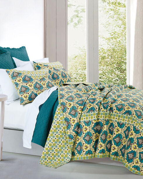 HiEnd Accents Salado 3-Piece Quilt Set - Full/Queen , Multi, hi-res