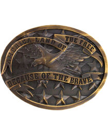 Cody James® Antiqued Oval America Belt Buckle, , hi-res
