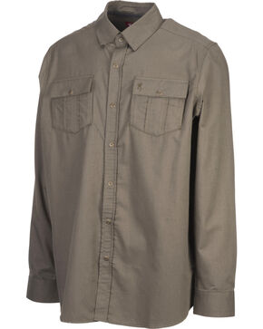 Browning Men's Olive Charleston Long Sleeve Shirt , Olive, hi-res