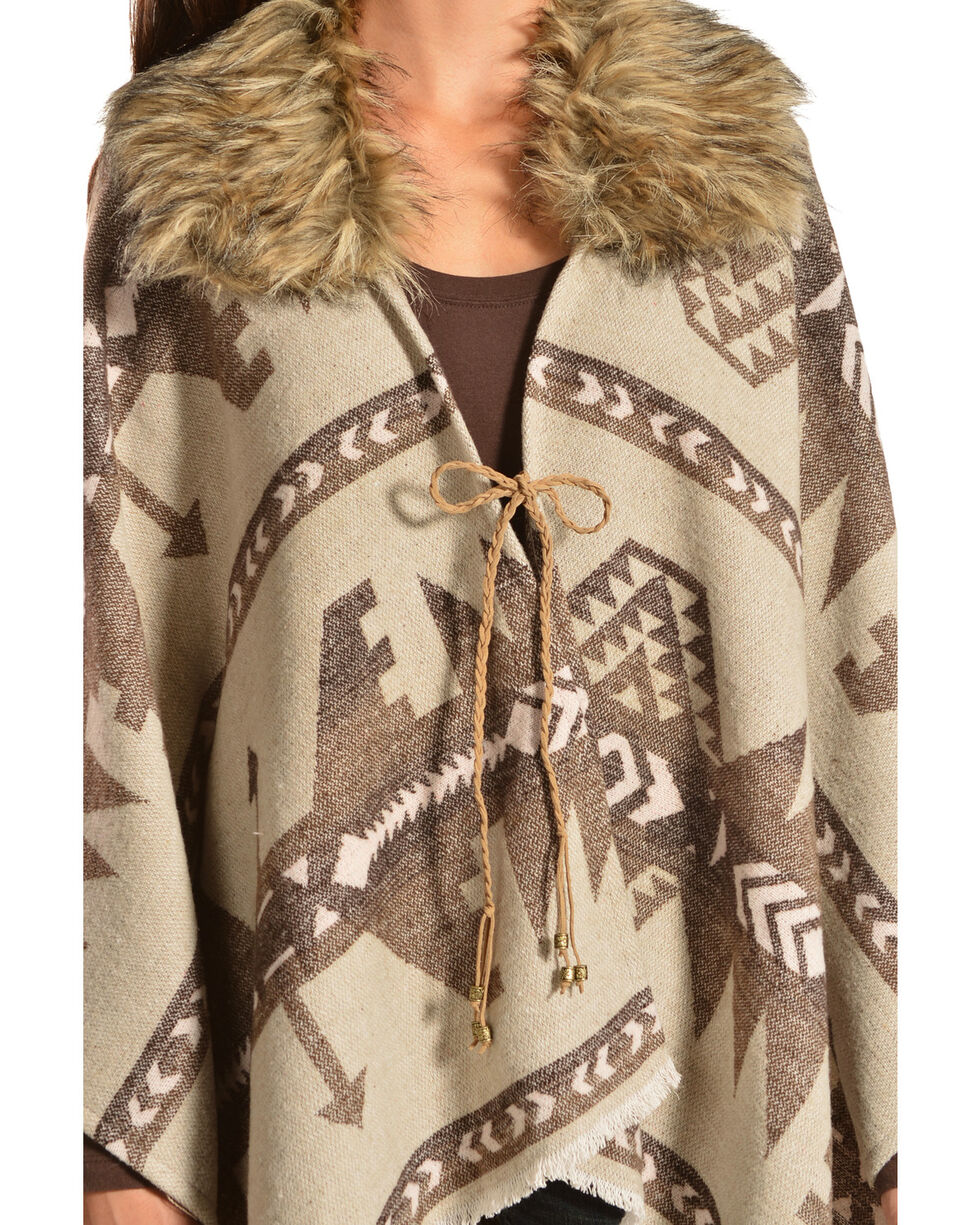 Black Swan Women's Aztec Cape, Taupe, hi-res