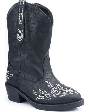Roper Infant Fashion Western Boots, Black, hi-res