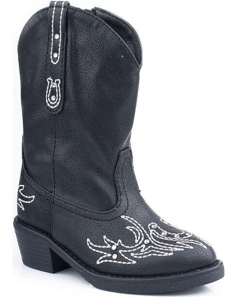 Roper Infant Fashion Western Boots, Black, hi-res