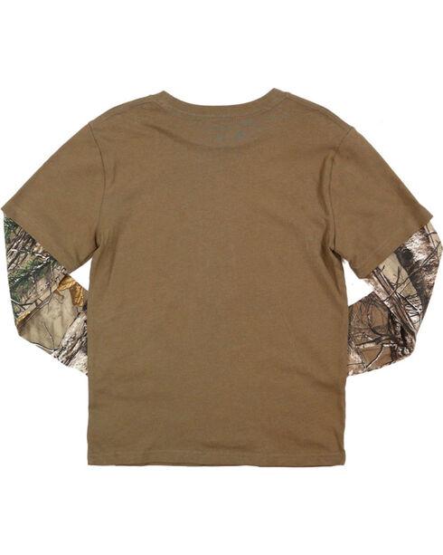 Carhartt Boys' Hunt Club Long Sleeve T-Shirt, Brown, hi-res