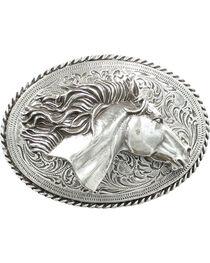 Nocona 3D Horse Head Buckle, , hi-res