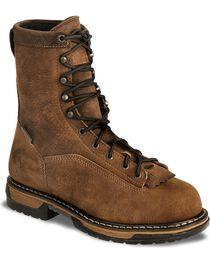 Rocky Men's Steel Toe Ironclad Work Boots, , hi-res