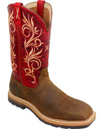 Twisted X Red Lite Cowgirl Work Boots - Steel Toe , , hi-res