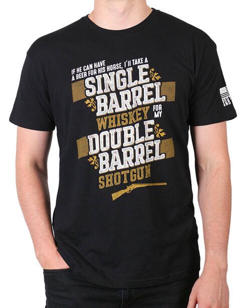 Brothers & Arms Men's Double Barrel Shotgun T-Shirt, Black, hi-res