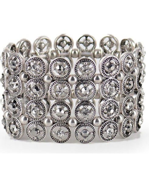 Shyanne® Women's Vintage Cuff Bracelet, Silver, hi-res