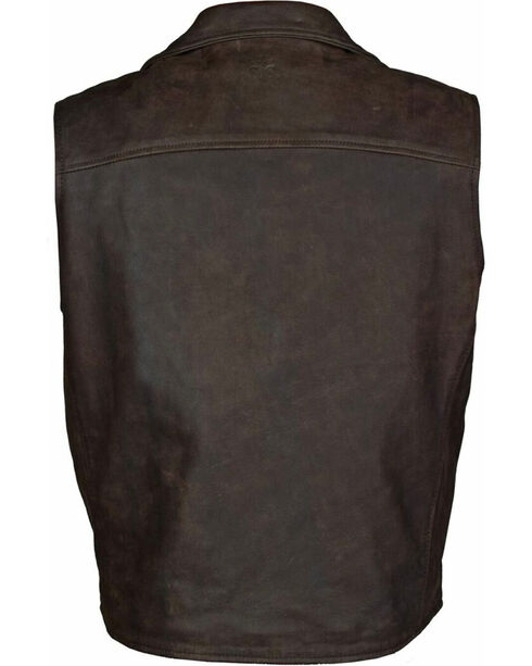STS Ranchwear Men's Leather Ace Vest - 2XL-3XL, , hi-res