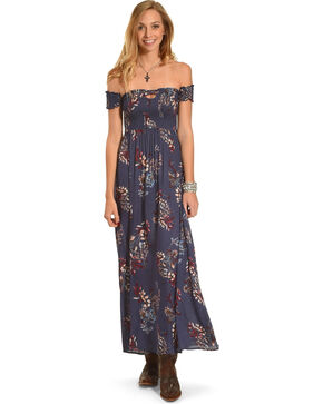 Sage the Label Women's Navy Thea Maxi Dress , Navy, hi-res