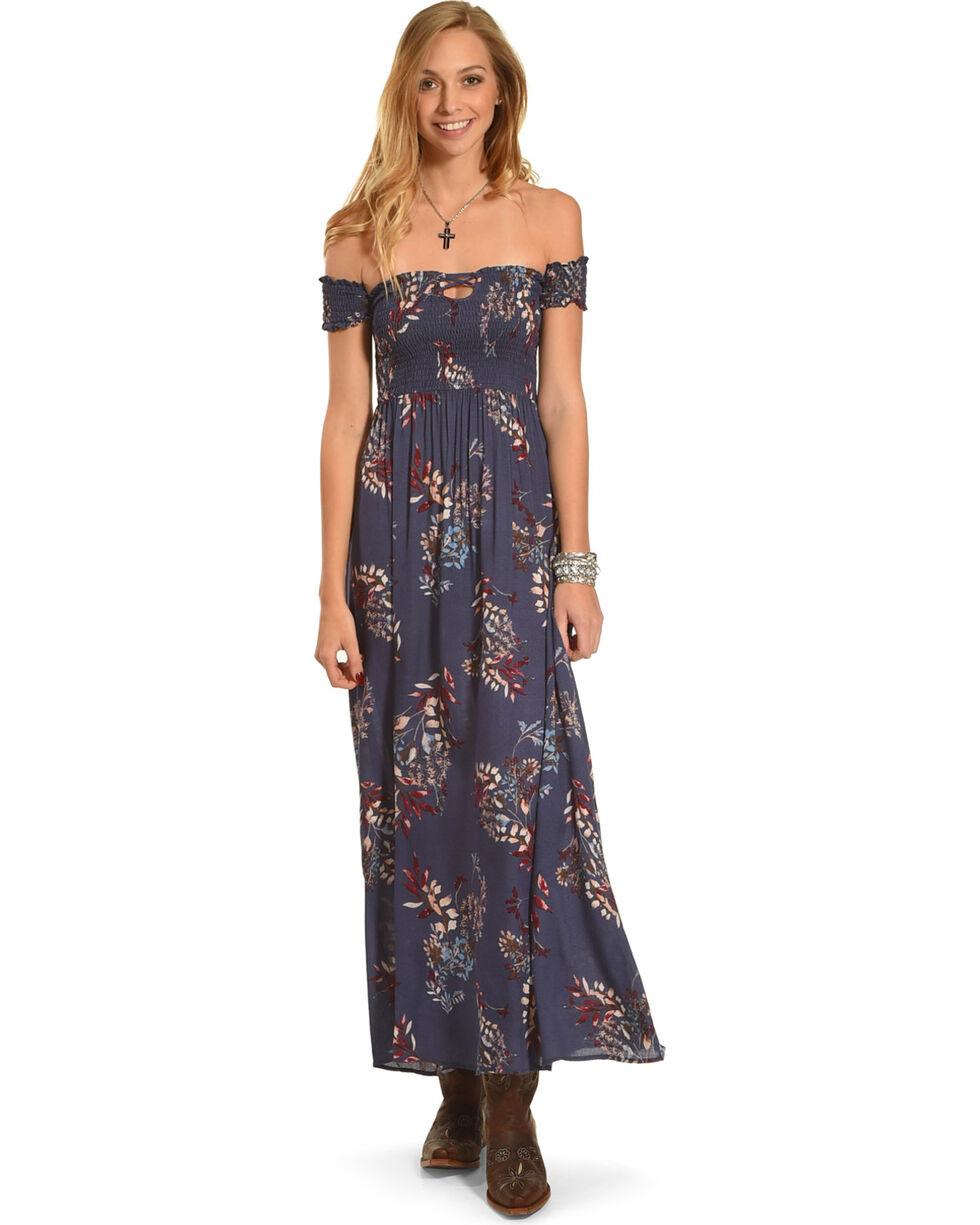 Sage the Label Women's Navy Thea Maxi Dress , Navy, hi-res