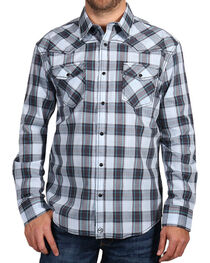 Moonshine Spirit Men's Plaid Print Long Sleeve Shirt, , hi-res