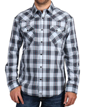 Moonshine Spirit Men's Plaid Print Long Sleeve Shirt, Multi, hi-res
